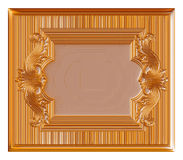Vintage gold background, 3D jewelry frame on isolated white. Royalty Free Stock Photos