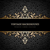 Vintage gold background. Divider, header, ornamental frame Royalty Free Stock Photography