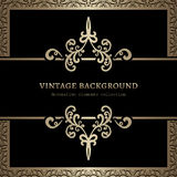 Vintage gold background Stock Photos