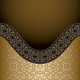 Vintage gold background Stock Image