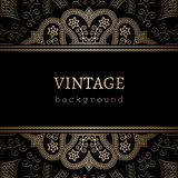 Vintage gold background Stock Photography