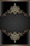 Vintage gold background, ornamental frame Royalty Free Stock Images