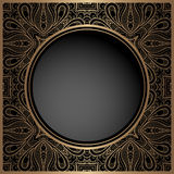 Vintage gold background with round hole Royalty Free Stock Photo