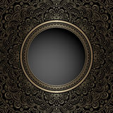Vintage gold background with round hole Stock Image