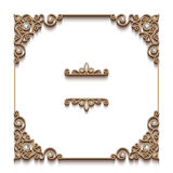 Vintage gold background, square jewelry frame Royalty Free Stock Photography