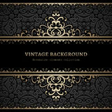 Vintage gold background with swirly decoration Royalty Free Stock Photo