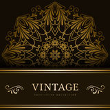 Vintage gold backround Royalty Free Stock Photos