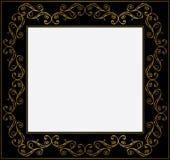 Vintage gold and black frame Stock Images
