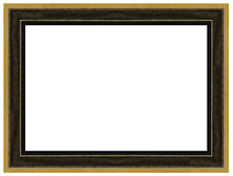 Vintage gold and black wooden picture frame Royalty Free Stock Images