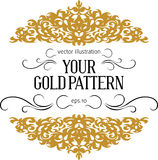 Vintage gold border vector illustration