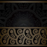 Vintage gold border background Stock Photo