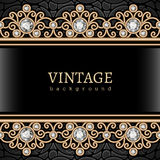 Vintage gold border frame Stock Photography