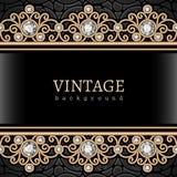 Vintage gold border frame Stock Photography