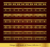 Vintage Gold Border Frame Vector Collection 33 Stock Images