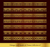 Vintage Gold Border Frame Vector Collection 65 Stock Images