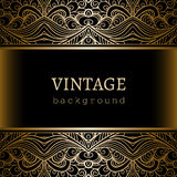 Vintage gold border lace frame Royalty Free Stock Photo