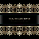 Vintage gold border lace frame Royalty Free Stock Photo