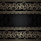 Vintage gold borders, ornamental background Royalty Free Stock Photos