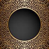 Vintage gold circle frame Royalty Free Stock Image