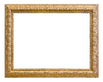 Vintage gold color picture frame Stock Photography