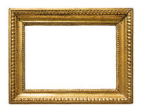 Vintage gold color picture frame Royalty Free Stock Photos