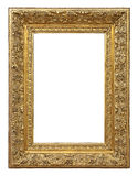 Vintage gold color picture frame Stock Photos