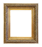 Vintage gold color picture frame royalty free stock photo