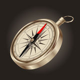 Vintage gold compass - vector Royalty Free Stock Images