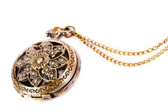 Vintage gold copper pocket watch Royalty Free Stock Photography
