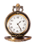 Vintage gold copper pocket watch Royalty Free Stock Photos