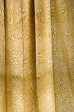 Vintage gold curtain Stock Images