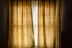 Vintage gold curtain background Royalty Free Stock Photography