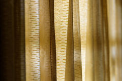 Vintage gold curtain background,Selective focus Stock Photos