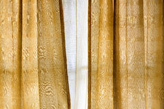 Vintage gold curtain background and texture Stock Photography