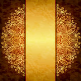 Vintage gold design. Royalty Free Stock Photo