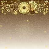 Vintage gold-drown frame. Vintage elegance frame with gold flowers (vector EPS10 Vector Illustration