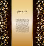 Vintage gold floral background. Vector Stock Photo