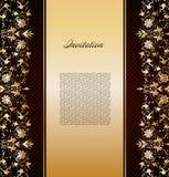 Vintage gold floral background. Vector Stock Photo