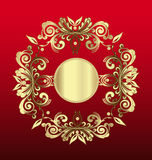 Vintage of gold floral decoration Stock Photography