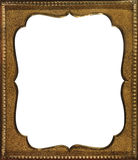 Vintage gold frame. With curvy cutout Royalty Free Stock Photo