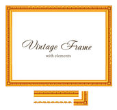 Vintage Gold Frame. Royalty Free Stock Image