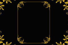 Vintage Gold Frame Royalty Free Stock Photography