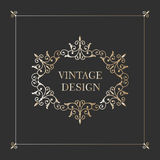 Vintage gold frame. Antique decorative elements. Royalty Free Stock Photography