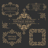 Vintage gold frame. Antique decorative elements. Stock Images