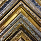 Vintage Gold Frame Corners stock image