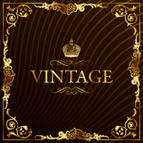 Vintage gold frame decorative background royalty free stock photo