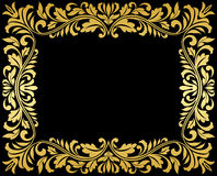 Vintage gold frame with floral Royalty Free Stock Photo