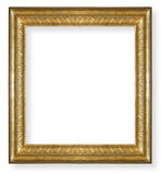 Vintage ,gold frame isolated Stock Photo