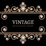 Vintage gold frame Royalty Free Stock Image