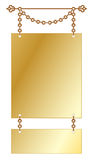 Vintage Gold Hanging Sign Royalty Free Stock Photos